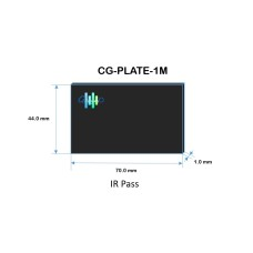 Infrared Pass Plate Cover Glass 1 mm