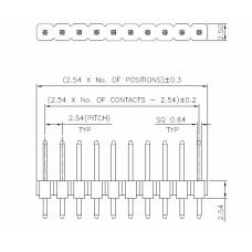 HM6pin-2.54mm-x4 header 6 pin 2.54mm x4