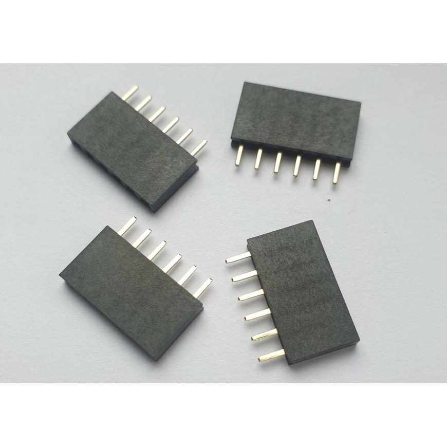 HF6pin-2.54mm-x4 header Female 6 pin 2.54mm x4